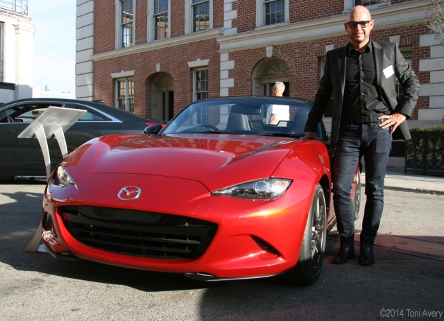 Designer Derek Jenkins and the  Miata©2014 Toni Avery